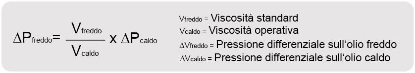 calcolo della eccessiva pressione differenziale