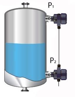 Misura di livello con due trasmettori di processo